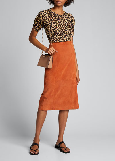 Kati Leopard-Print Puff-Sleeve Tee
