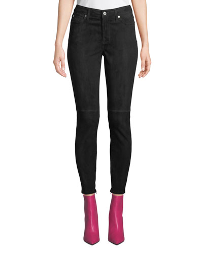 The Ankle Skinny Suede Pants