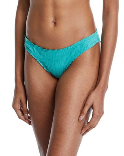 Basic Hipster Swim Bikini Bottom, Emerald Scales