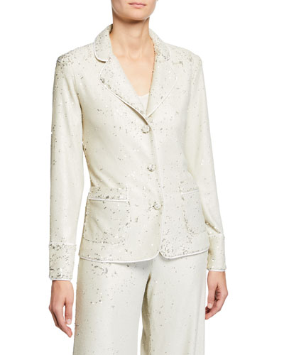 Ripley Sequined Three-Button Jacket