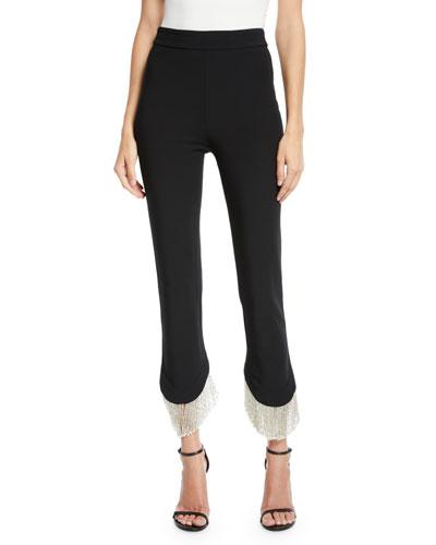 Ashley Asymmetrical Fringe Skinny Pants