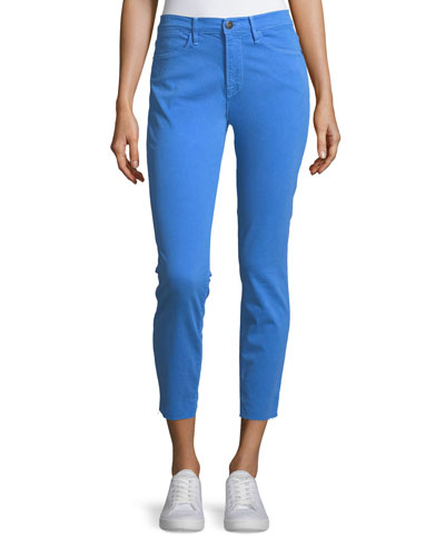Le High Skinny Jeans w/ Raw-Edge Hem