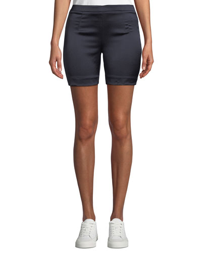 Life Is Short Satin Biker Shorts