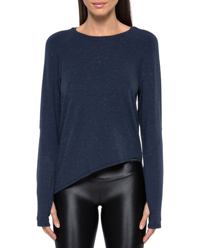 Glance Long-Sleeve Asymmetrical Tee