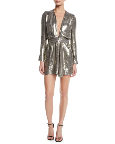 b526d10ffcba5d Shaina Plunging Metallic Short Dress Quick Look. Ramy Brook