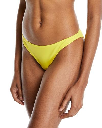St. Lucia Solid Swim Bikini Bottom, Yellow