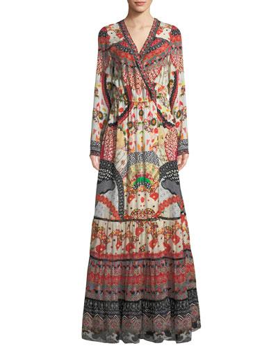 Vintage Vixen Cross-Front Maxi Dress