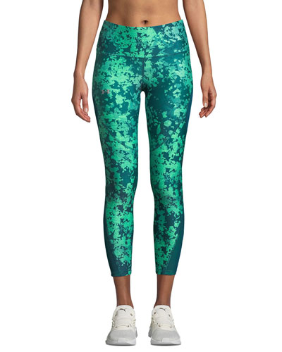 HeatGear Printed Ankle Crop Performance Leggings
