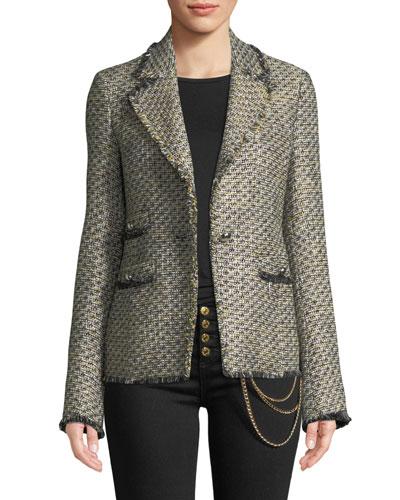 Fabian Tweed Single-Button Jacket