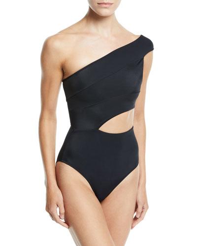 Veronique One-Shoulder One-Piece Swimsuit