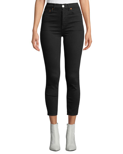 High-Rise Ankle Crop Skinny Jeans