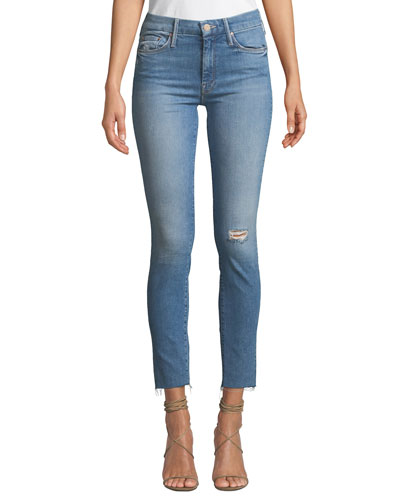 The Looker Ankle Skinny Frayed Jeans