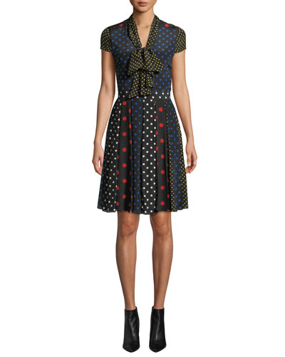 Sanda Tie-Neck Dress