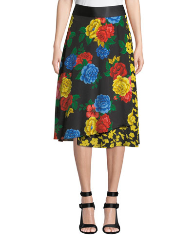 Nanette Mock-Wrap Midi Skirt