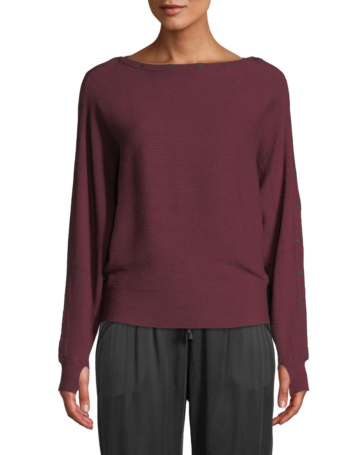 BLANC NOIR Portola Sporty Pullover Sweater in White