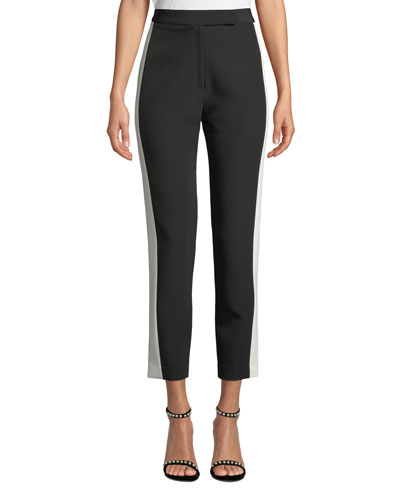 Stretch Crepe Combo Skinny Pants