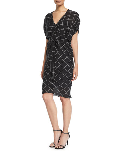 9be14bba05e1 Aimee Check Bias Sheath Dress Quick Look. Milly