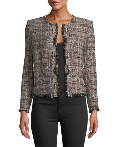 Jocund Collarless Tweed Jacket dd12689b2d1c