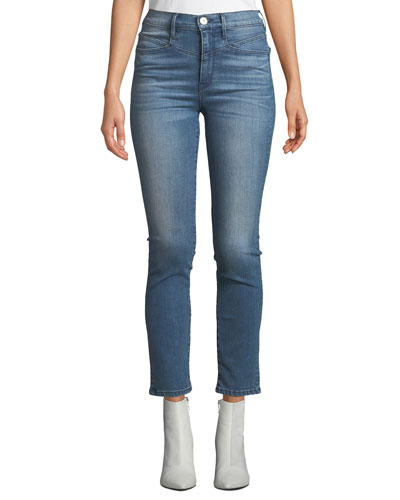 Jesse High-Rise Straight-Leg Ankle Jeans