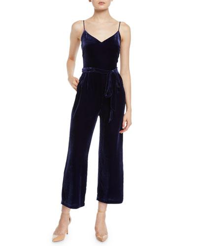 Jaelyn Velvet Camisole Jumpsuit