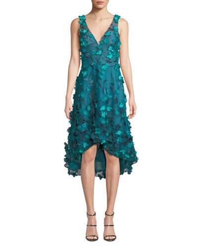 d2ed814cd0d52 Sleeveless High-Low 3D Flower Dress Quick Look. Marchesa Notte