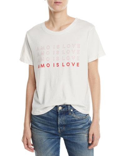 Amo Is Love Classic Graphic Tee