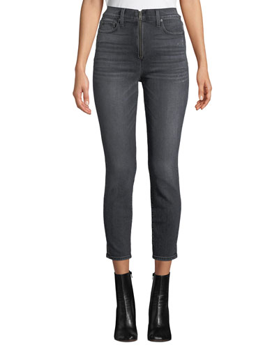 Good High-Rise Ankle Skinny Jeans with Exposed Zip Fly