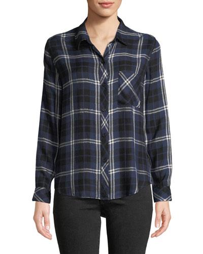 Hunter Plaid Button-Front Shirt