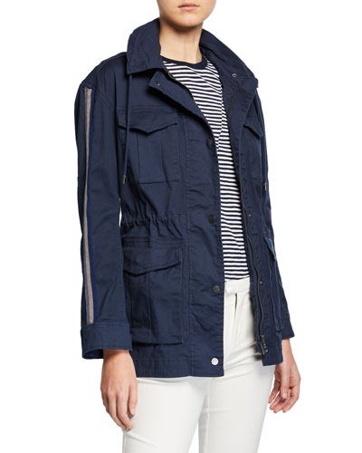 Cotton Twill Field Jacket with Stowaway Hood