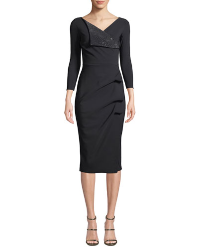 Nelida Asymmetric-Ruched Dress