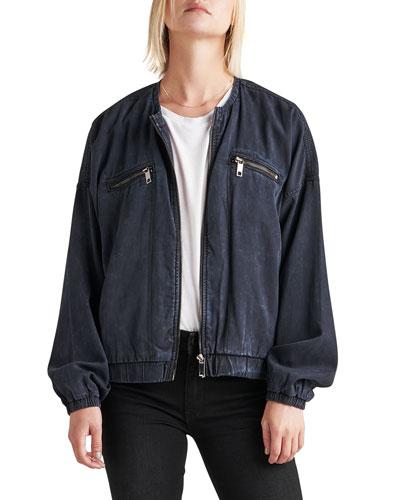 Lightweight Denim Shirt Jacket