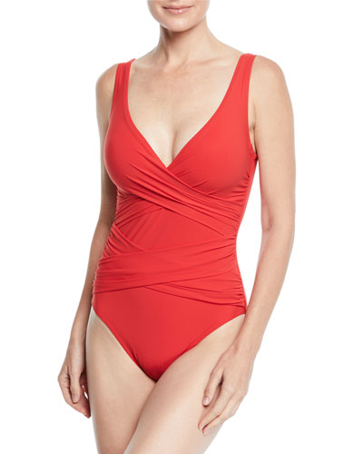 Crisscross One-Piece Swimsuit