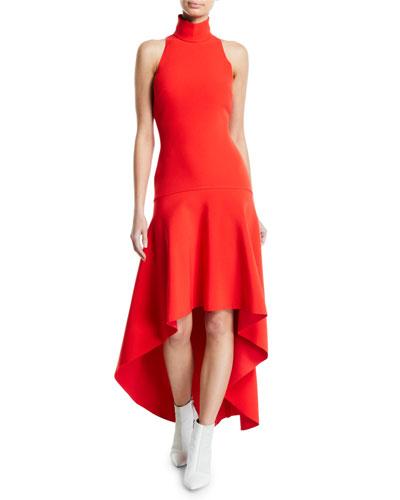 Bahar Drop-Waist Asymmetrical Cocktail Dress