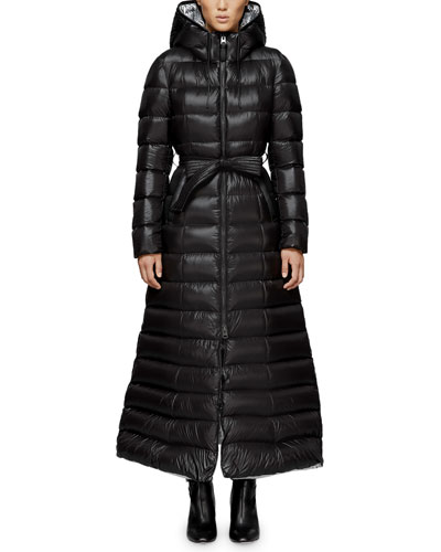 Calina Long Puffer Coat w/ Belt