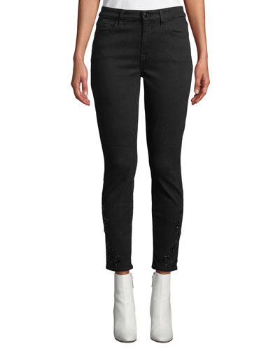 Riche Touch Coated Ankle Skinny Jeans
