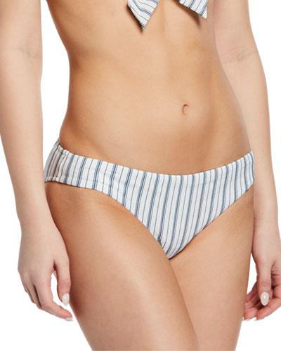 Vertical-Stripe Hipster Bikini Bottoms