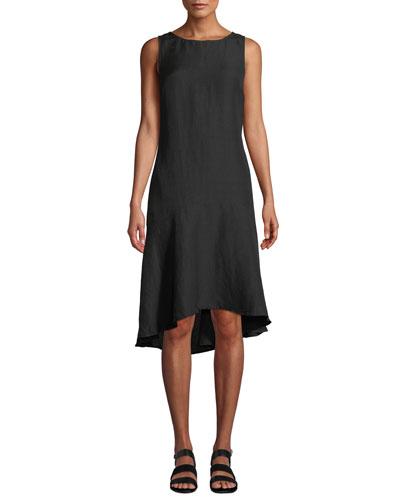 Sleeveless Linen Flounce Coverup Dress