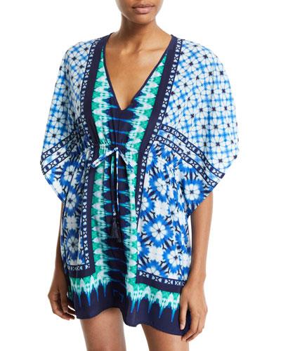 Tie-Dye Seashells Coverup Tunic