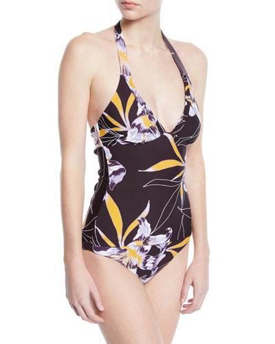 Amulet Floral Halter Tankini Swim Top