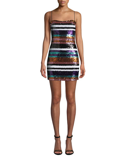 Braelyn Sequined Short Cocktail Dress