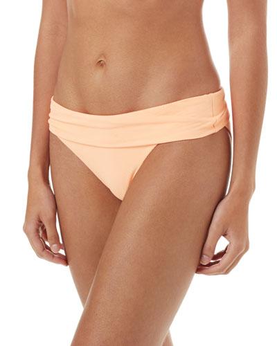 Provence Pique Fold-Over Bikini Swim Bottoms