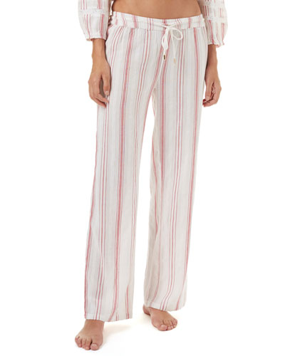 Krissy Striped Cotton Coverup Pants
