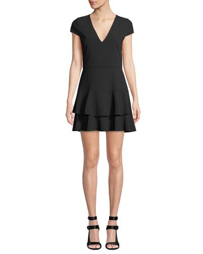 Palmira V-Neck Ruffle Dress