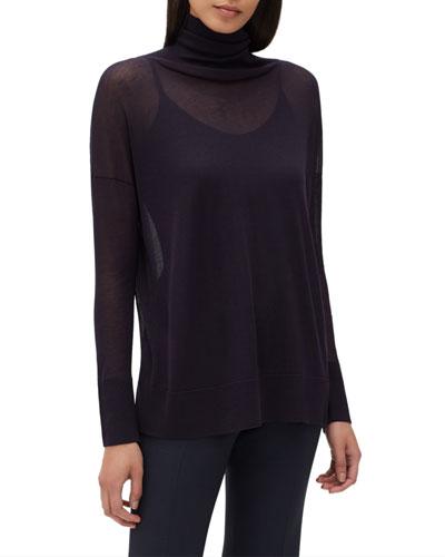 Semisheer Turtleneck Sweater