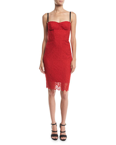 Sweetheart Italian Stretch Lace Dress