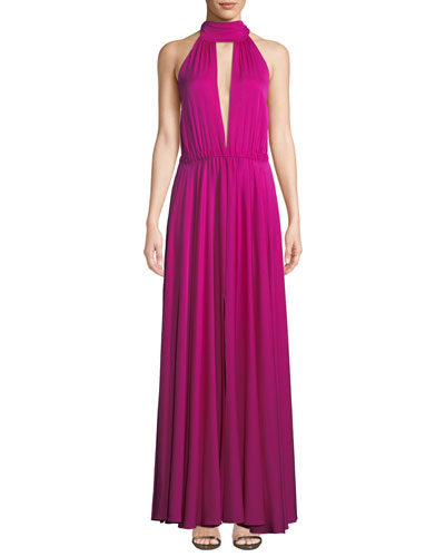 Emma Tie-Neck Sleeveless Gown