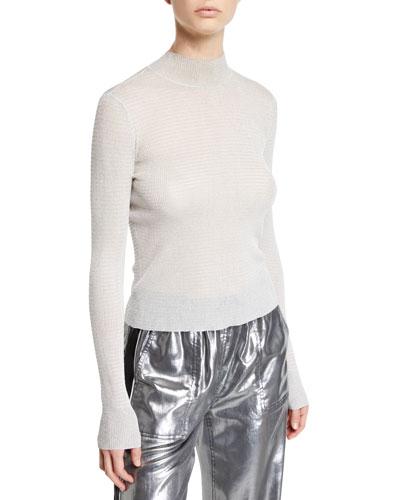 Raina Metallic Turtleneck Sweater