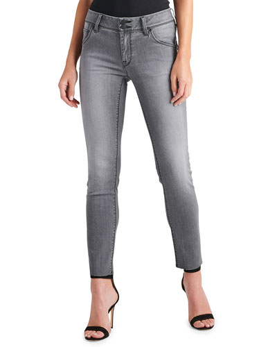 Collin Raw-Hem Ankle Skinny Jeans