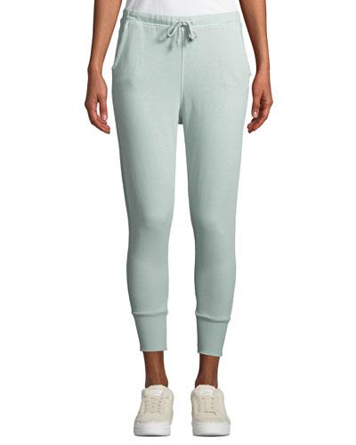 Cotton Fleece Cuffed Jogger Sweatpants