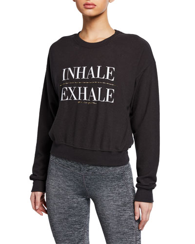 Inhale Malibu Graphic Crewneck Sweatshirt